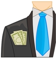 Money in pocket vector image