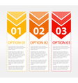One Two Three Text Blocks vector image vector image