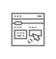 Online translation site line icon s