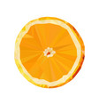 orange slice low poly food fruit isolated vector image vector image