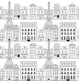 Paris city doodle seamless pattern background