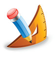pencil and triangle vector image vector image