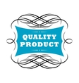 Quality product label vector image