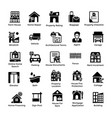 real estate glyph icons 2 vector image vector image