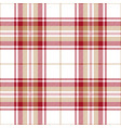 red and beige tartan plaid scottish pattern vector image vector image