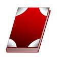red book isolated on white background vector image vector image