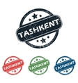 Round Tashkent city stamp set vector image vector image