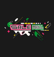 sale banner modern backgrounds with abstract vector image