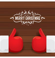 santa claus like hand icon isolated on vector image vector image