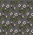 seamless flower and leaves pattern vector image vector image