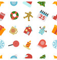 seamless pattern with christmas icons vector image vector image