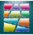 Set of colorful plates on abstract background vector image vector image