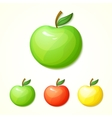 Set of different colors apples vector image vector image