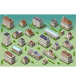 Set of Isometric European Buildings vector image vector image