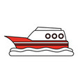 ship boat vehicle vector image vector image