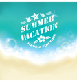 Summer marine background vector image vector image