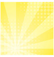 sunny yellow striped retro comic background vector image