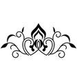 swirl line decoration vector image vector image