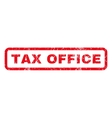 Tax Office Rubber Stamp vector image