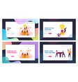 think outside and money flow landing page template vector image