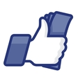 Thumbs Up symbol icon with cash vector image vector image