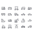 Transport Icons 3 vector image vector image