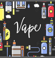 vape products promotional poster with modern vector image vector image