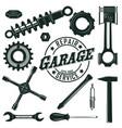 vintage mechanic tools set vector image vector image