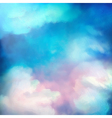 Watercolor Sky Painting Background vector image vector image