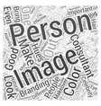 what makes a good image consultant Word Cloud vector image vector image