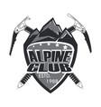 alpine club badge vector image
