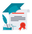 diploma icon vector image