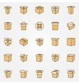 Flat cardboard icons vector image