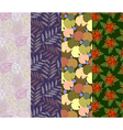 Colorful seamless pattern 4 designs in one set vector image