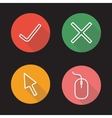 Website flat linear icons set vector image