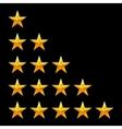 Rating stars set Web or mobile User feedback vector image