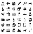 veterinary hospital icons set simple style vector image