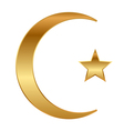 star and crescent vector image