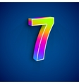 3d Number Seven vector image