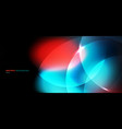 abstract bokeh blurred black background circles vector image vector image