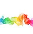 abstract color wave flow vector image vector image