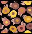autumn doodle flowers seamless repeat vector image vector image