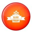 Black friday ribbon icon flat style vector image vector image