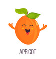 bright poster with cute laughing apricot vector image