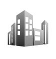 building grey vector image vector image