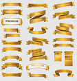 Collection of golden premium promo banners vector image vector image