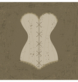 corset with lacing vector image