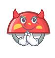devil semicircle mascot cartoon style vector image