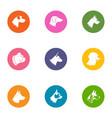dog life icons set flat style vector image vector image