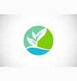ecology green organic logo vector image